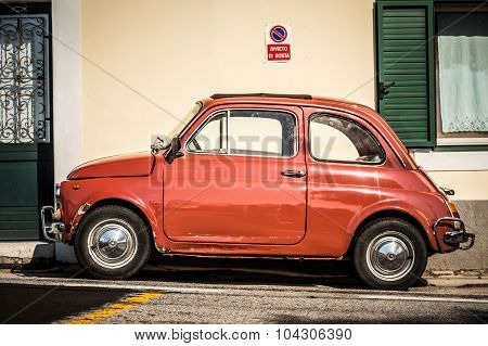 Old, Red Italian Car