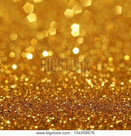Golden Glittering Christmas Lights