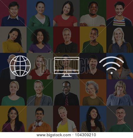 Global Worldwide Digital Modern Connection Concept