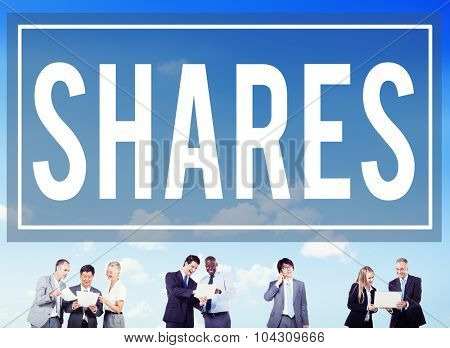 Shares Information Social Media Networking Concept