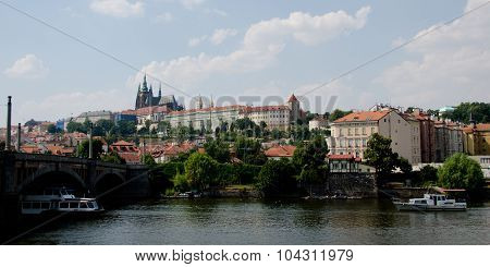 View Of Prague Castle From Manesuv Bridge
