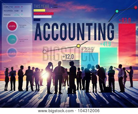 Accounting Economy Financial Banking Revenue Concept