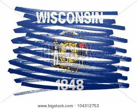 Flag Illustration - Wisconsin