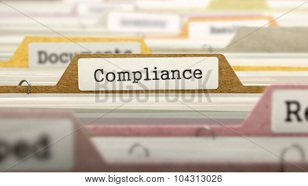 Compliance Concept on Folder Register.