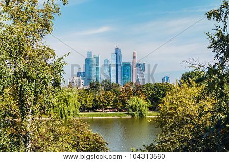 Skyscrapers Moscow International Business Center Moscow-city