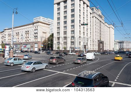 MOSCOW, RUSSIA - 21.09.2015.  State Duma of the Russian Federation