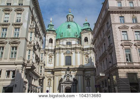 Catholic Church Of St. Peter In Vienna In Vienna