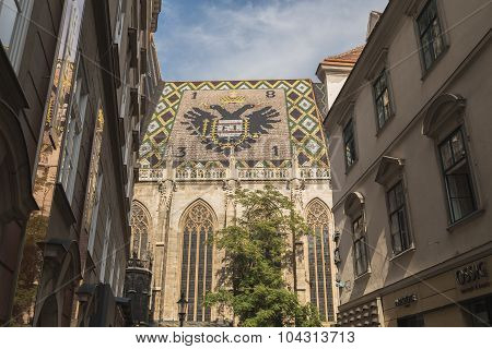 Part Of Stephansdom In Vienna