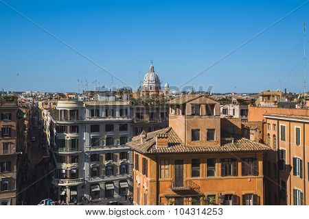 High View Of Buildings In Rome
