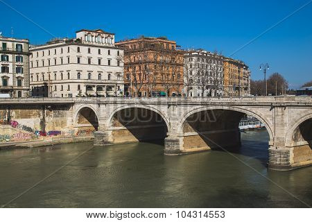 Ponte Cavour Bridge In Rome