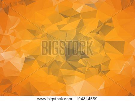 Orange Polygonal Mosaic Background
