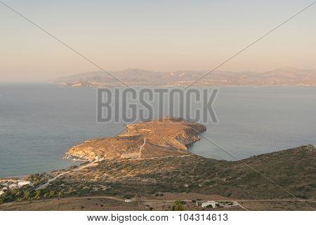 Peninsula in Paros island in Greece.