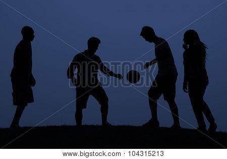 Soccer Friends Team Active Sport Concept