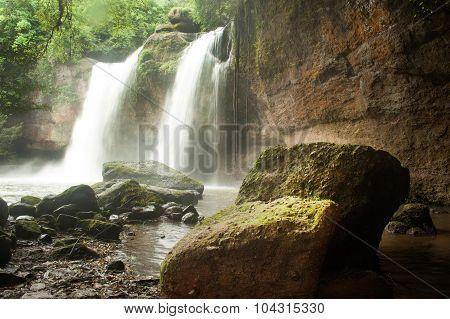 Haew Suwat Waterfall In Khao Yai National Park,Thailand.