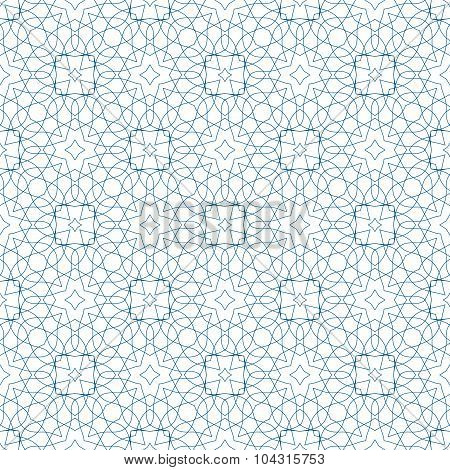 Vector Blue Seamless Guilloche Background