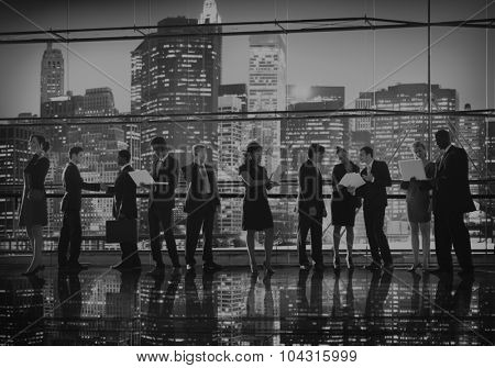Business People Interaction Communication Working Concept