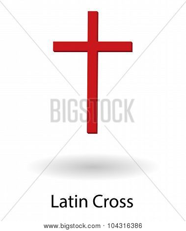 Latin Cross Vector Illustration
