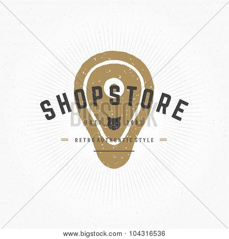 Hand drawn Butcher Shop Meat Logo Vintage Style for Logotype