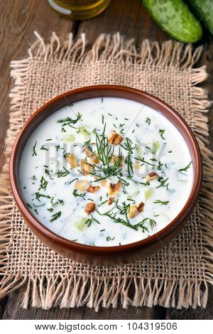 Cold Soup With Yoghurt And Cucumber