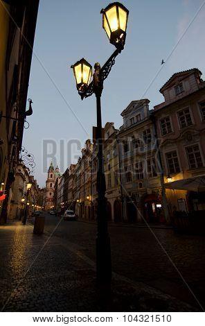 Morning Lights On Mostecka Street, Mala Strana