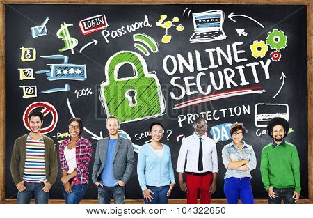 Online Security Protection Internet Safety Student Education Concept