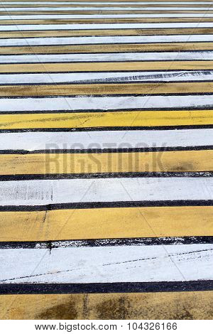 Pedestrian Two Color Zebra Crossing