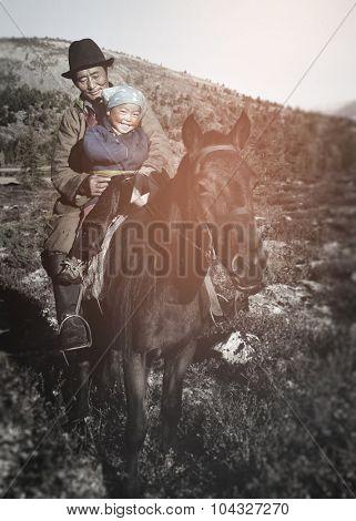Mongolian Tsataan Horses Tranquil Solitude Free Concept