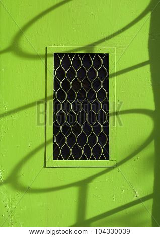 Green Metal Entrance Door.