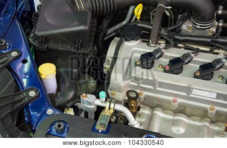 Details of a new car engine