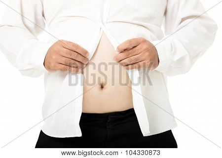 Fat Business Man With A Big Belly
