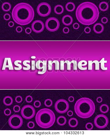 Assignment Purple Pink Rings