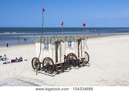 Mobile Changing Rooms On The Beach, Editorial