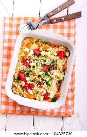 Pumpkin, Tomato And Fetta Risotto