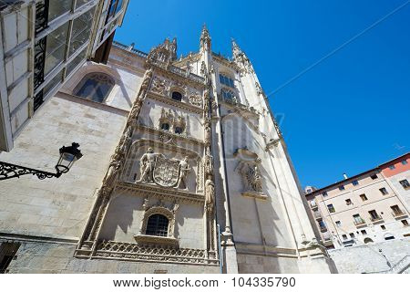 Exterior View of Burgos Cathedral, Burgos, Castilla Leon, Spain.