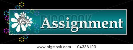 Assignment Black Colorful Neon Horizontal
