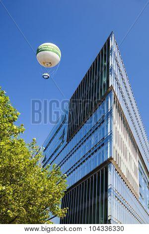 Observation Balloon In Hamburg, Germany, Editorial