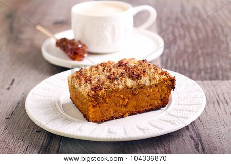 Pumpkin Streusel Cake Slice