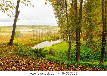 View Of The Valley Of River Soroti - Autumn Landscape