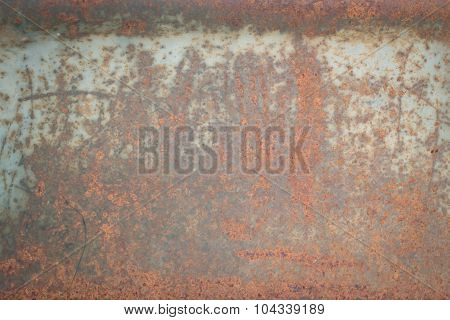 Rusty Metal Plate Corroded Aged Texture Background