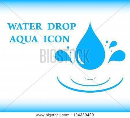 water drop aqua icon