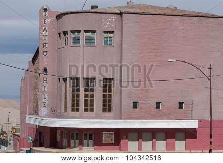 Abandoned theatre and hotel, Chuquicamata ghost town