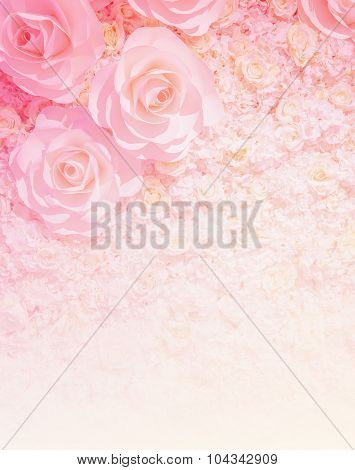 Artificial Rose Flower Background