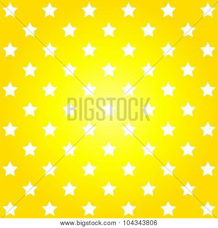 Bright Yellow Abstract Pattern With Stars