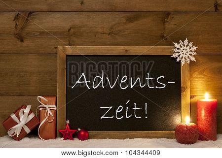 Festive Card, Blackboard, Snow, Adventszeit Mean Christmas Time