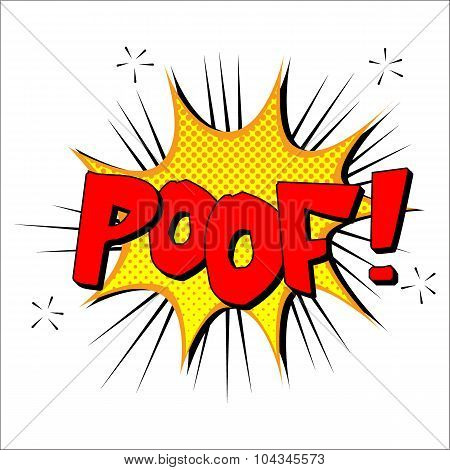 Poof sound effect illustration