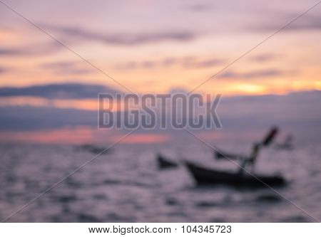 Blurred Abstract Nature Sea Sunset Background