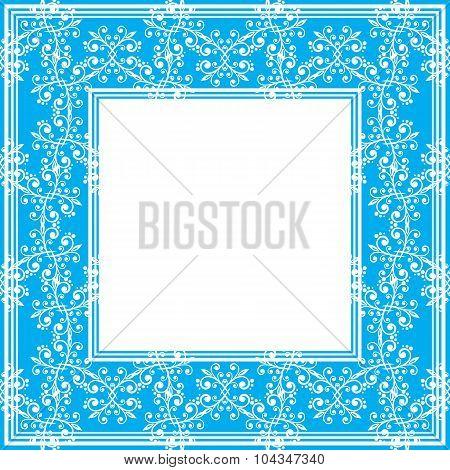 blue fine border