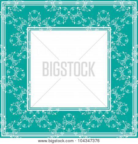 blue green border
