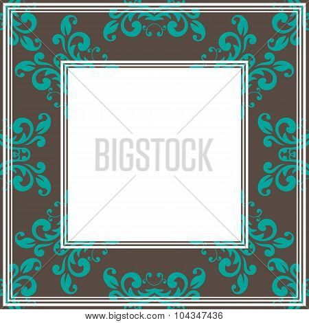 brown ornate border