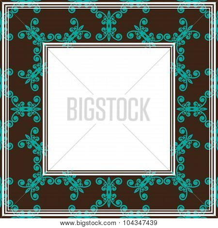 brown seamless border